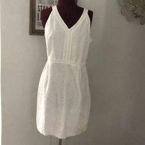 NWOT White Eyelet Sundress Dress Size 12